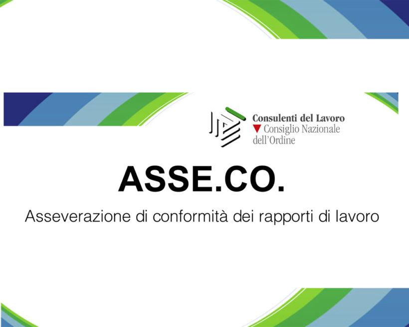 Conseguimento della certificazione ASSE.CO. – Asseverazione di Conformità dei Rapporti di Lavoro